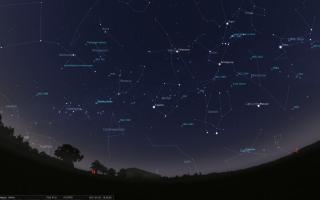 Какие созвездия можно увидеть на зимнем небе