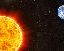 Сравнение размеров Солнца и Земли
