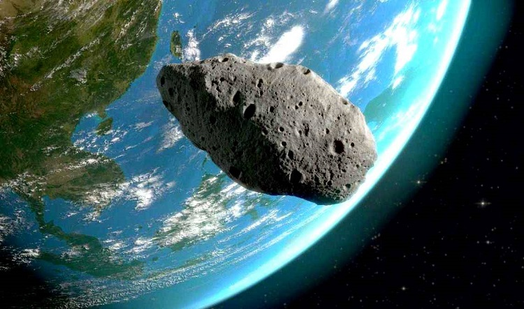 Летящий астероид