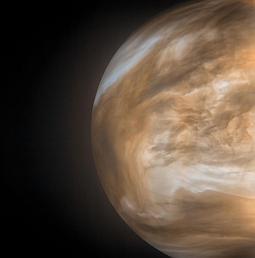 """Японский аппарат """"Акацуки"""" сделал фото атмосферы Венеры"""