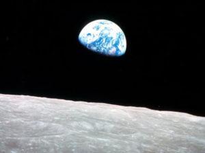 Планета Земля с поверхности её спутника