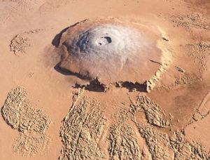 Вулкан Олимп на Марсе