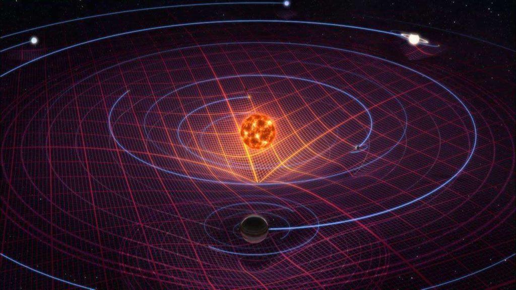 Наглядное изображение солнечной гравитации