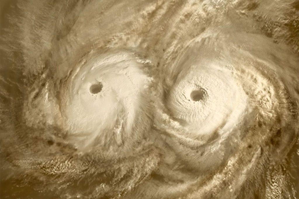 Изображение торнадо на Венере
