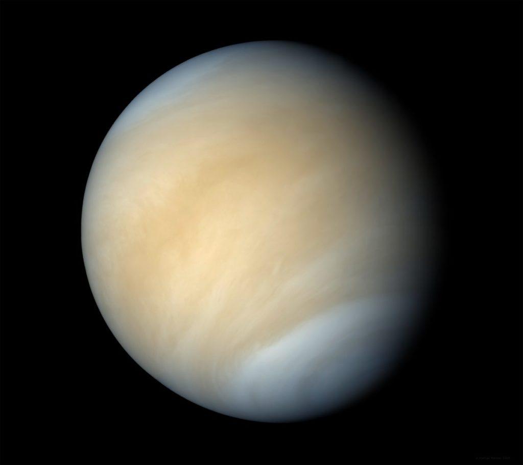 Планета Венера: вид в телескоп
