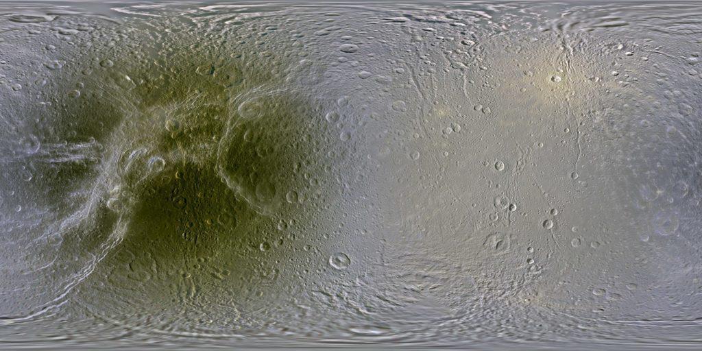 Карта поверхности Дионы