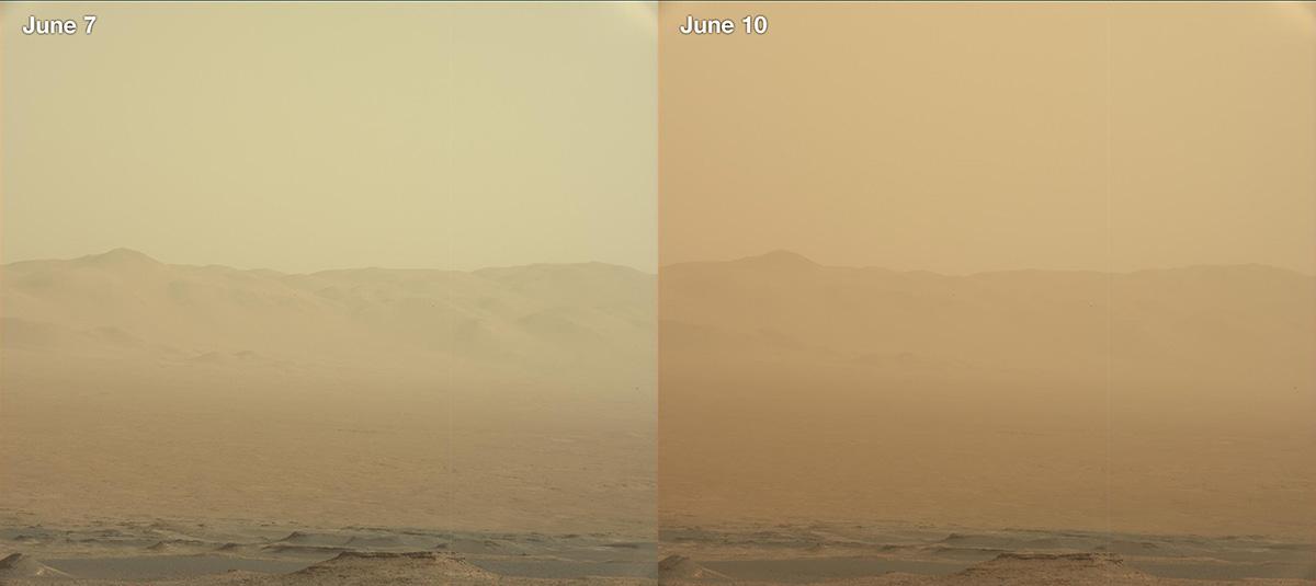 Ветер и буря на Марсе