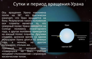 Период вращения Урана