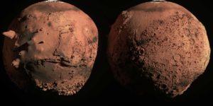 Под увеличением две стороны Марса