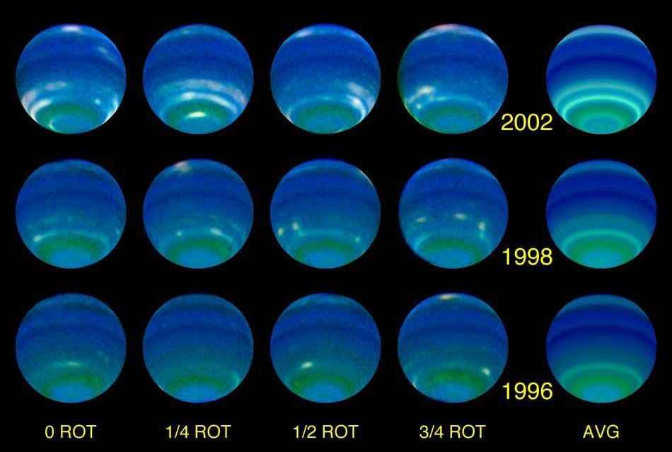 Смена времен года на Нептуне
