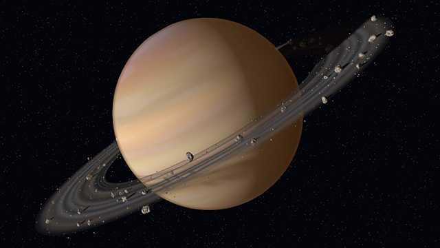какого цвета сатурн