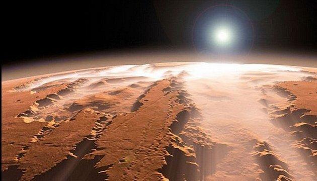 марс со спутника