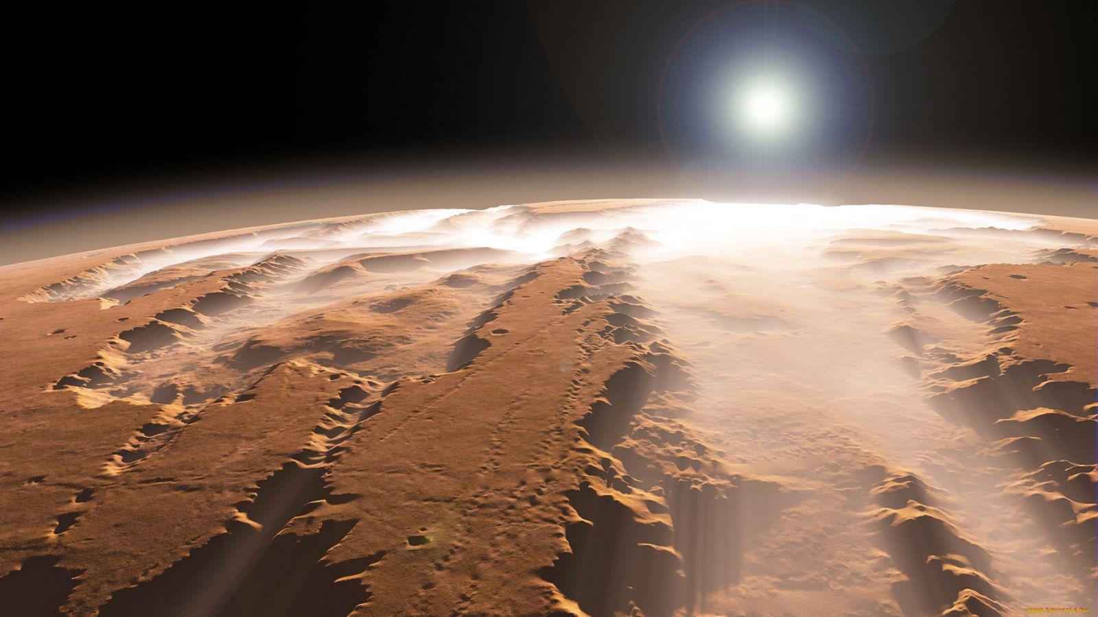 Вид с орбиты планеты Марс