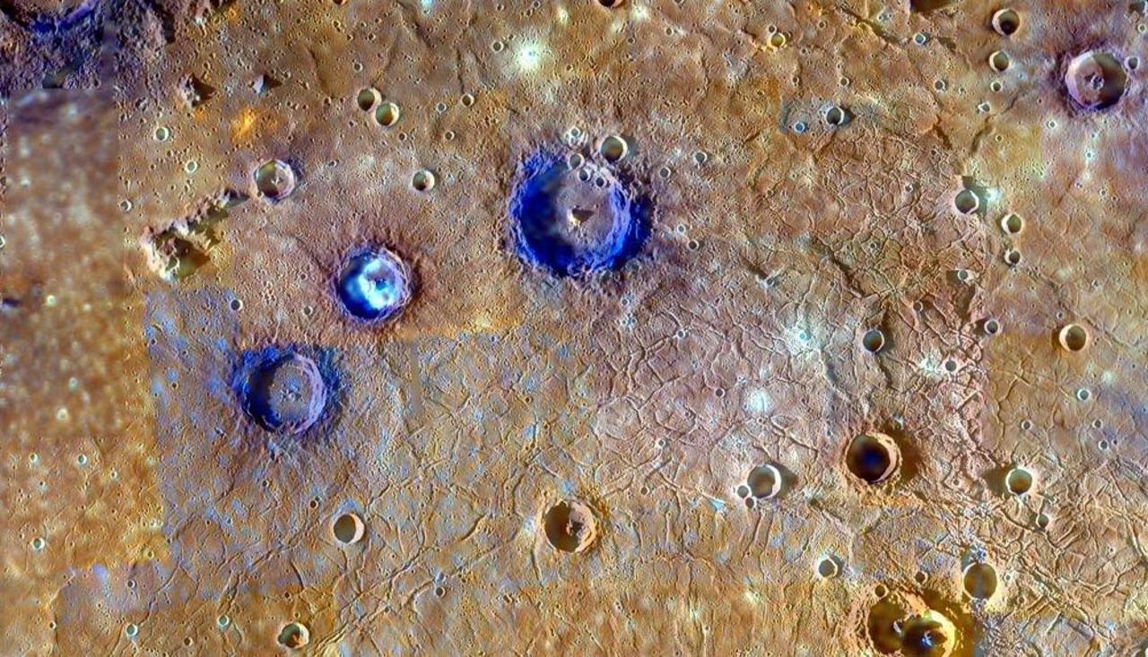Один из кратеров Меркурия.