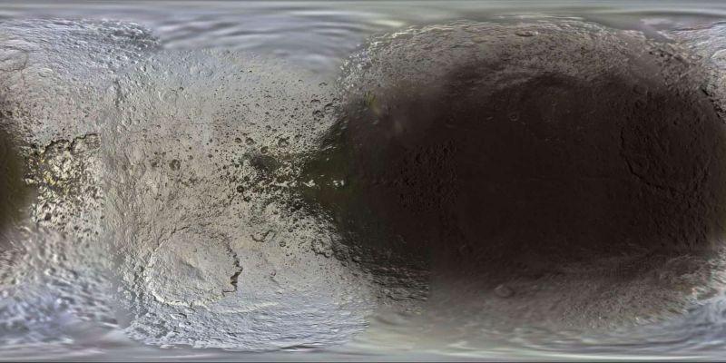 Карта поверхности Япета