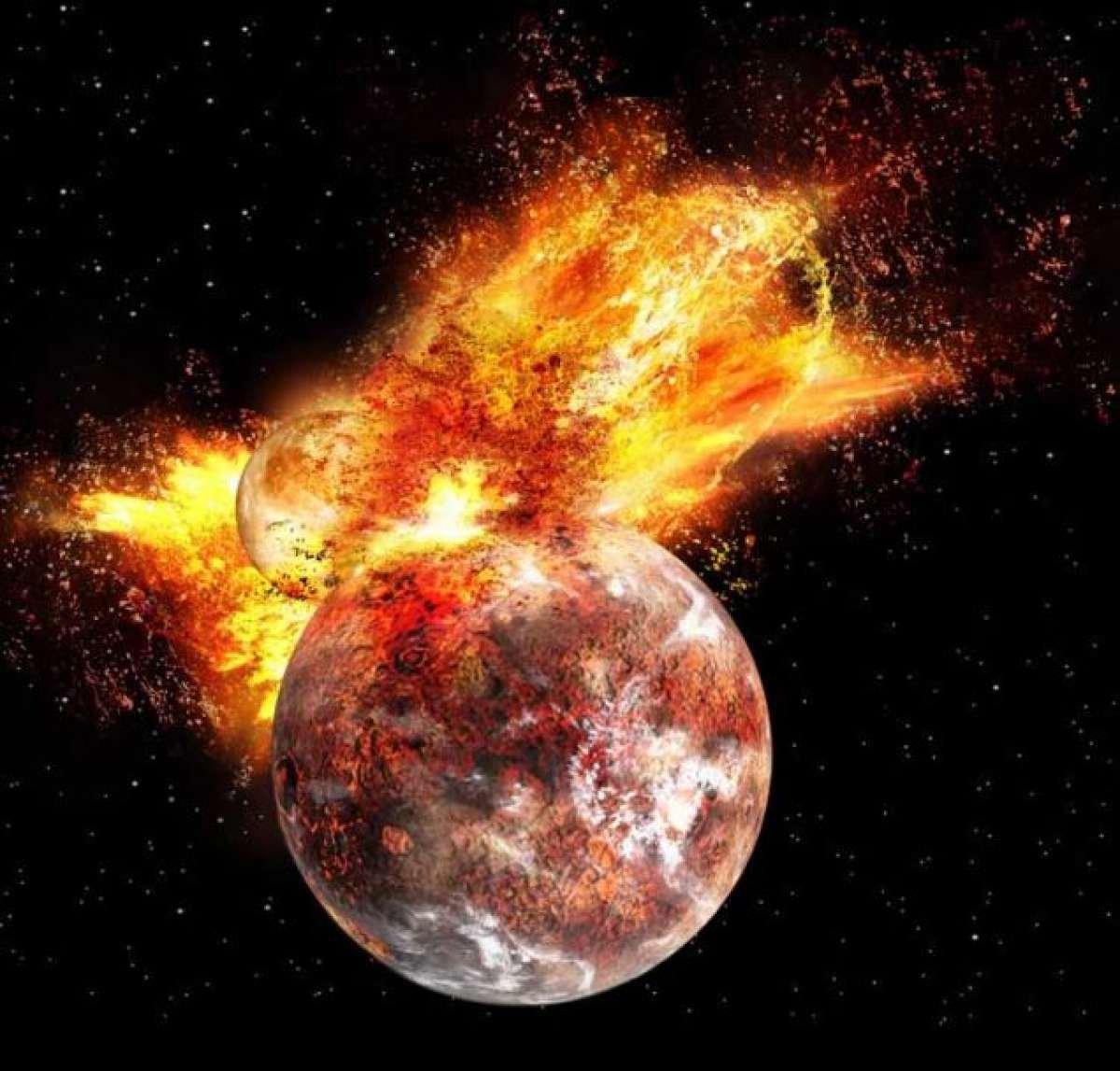 Столкновение планеты Земля с Теей