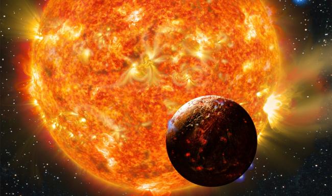 Меркурий и Солнце