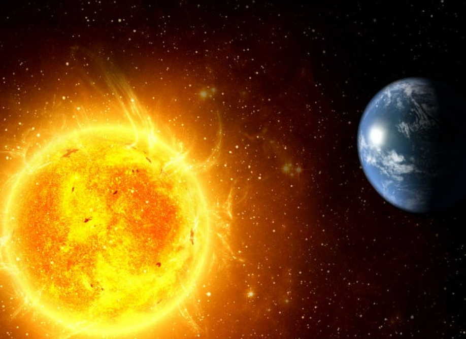 Расстояние от Земли до Cолнца.