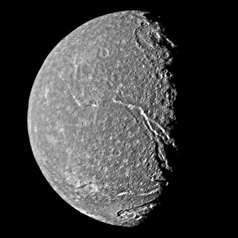 Поверхность спутника Титания