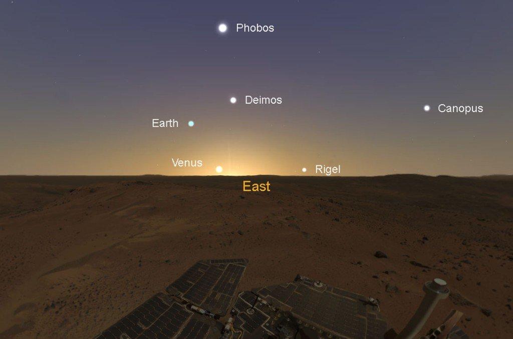 Вид Фобоса с Марса