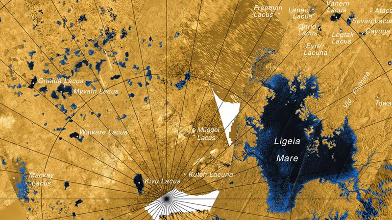 Карта поверхности Титана