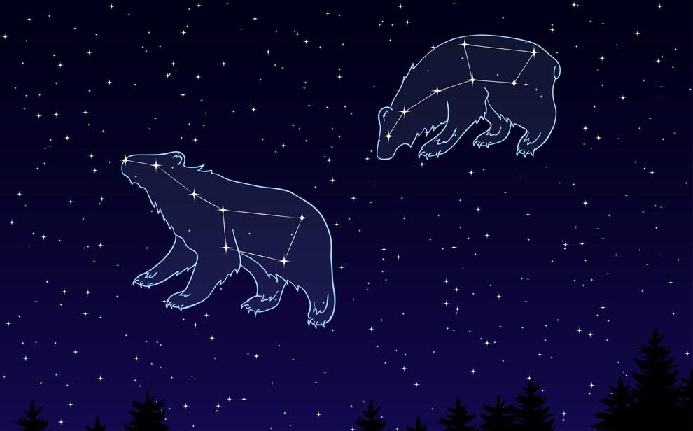 Созвездия Большая и Малая Медведица